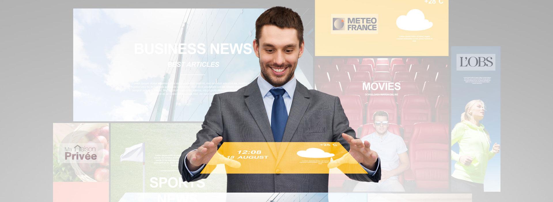 Vente d'espaces publicitaires et gestion de newsletters